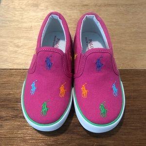 POLO Ralph Lauren Pink Slip On Sneakers Size 9